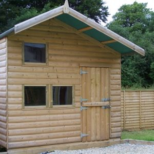 Childrens timber playhouse