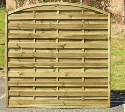 Arched Horizontal Fence Panel