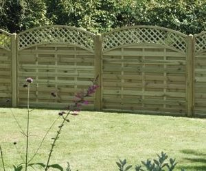 Arched Lattice Fencing