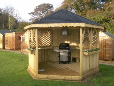 garden gazebo. Garden BBQ Gazebo Abwood