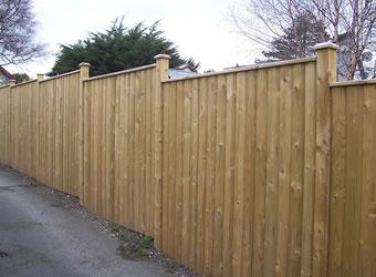 Barrell Board panels Capped Fencing