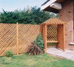 Garden Arbour with trellis fencing