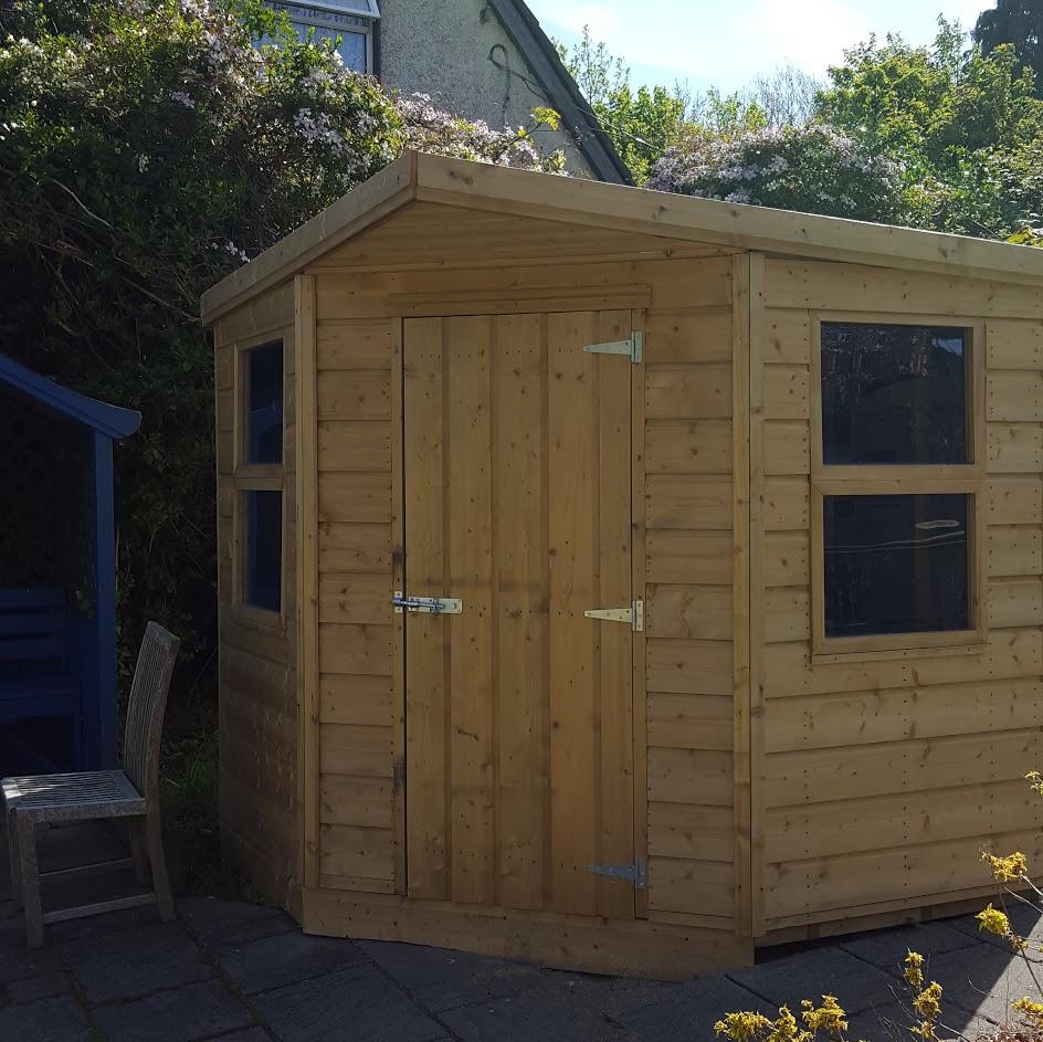 Backyard Corner Ideas: Corner Shed - Wooden Corner Sheds