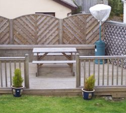 Timber Decking with Fench