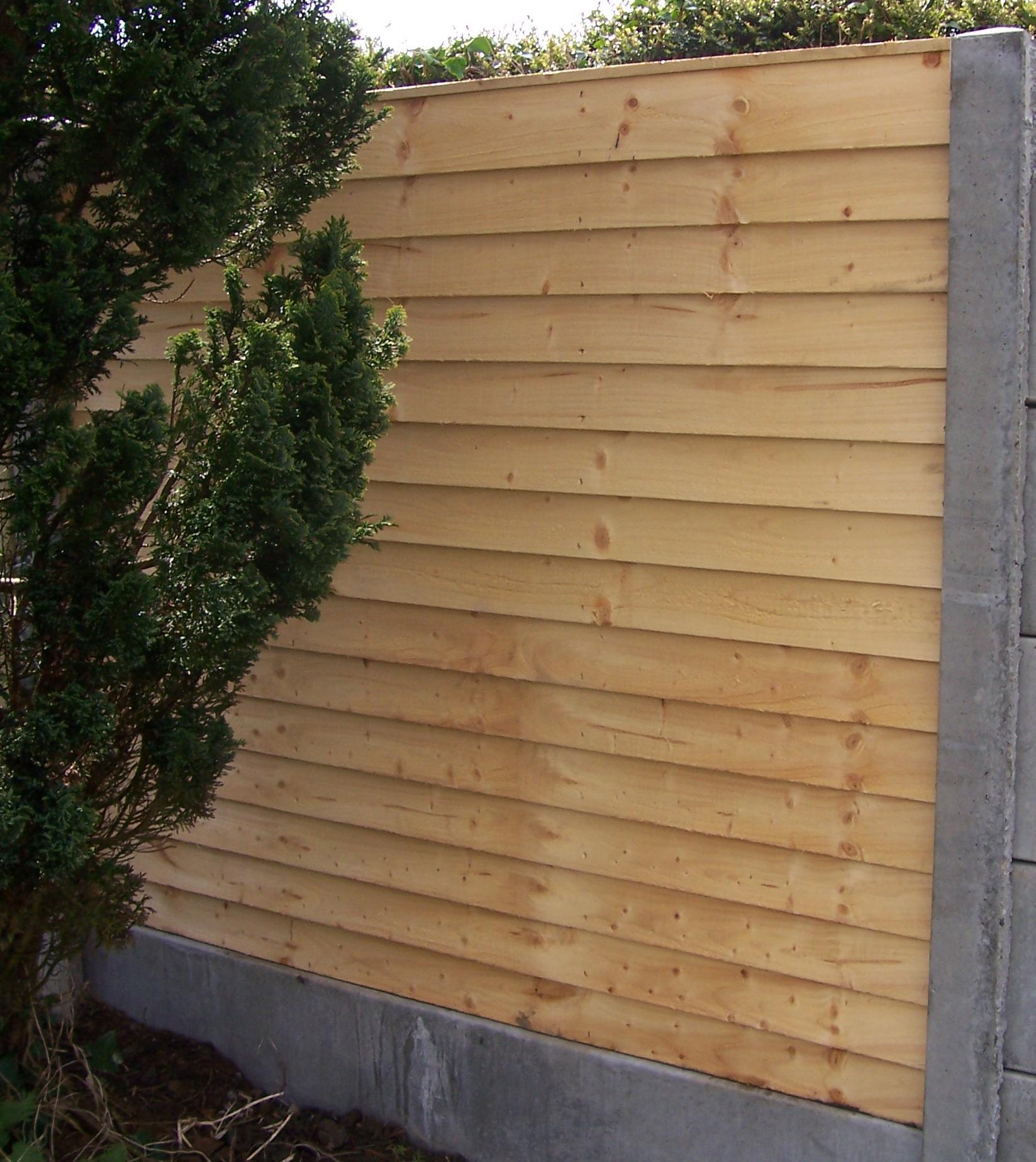 Garden fencing timber fence panels dublin wicklow abwood overlap panel fencing baanklon Gallery