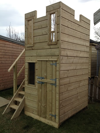 kids castle wooden playhouse