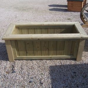 Rectangular timber planter