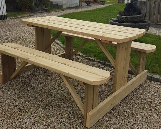 Picnic Bench Wooden Bench Garden Bench Abwood Homes - Timber picnic table