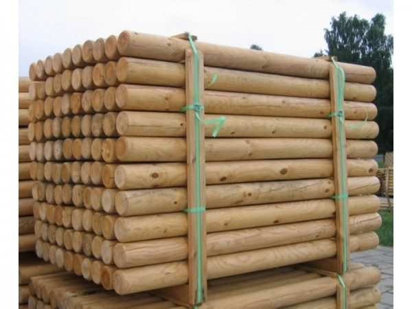Round Timber Posts | Timber Poles for Sale - Abwood ie