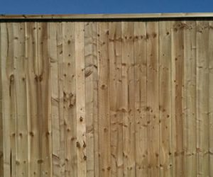 vertical capped panel fencing