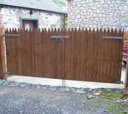 wooden cottage gates