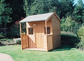 Wooden wendy house kids outdoor playhouse ideas for Wooden wendy house ideas