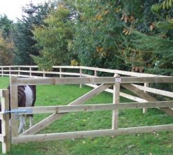 Wooden timber field gates