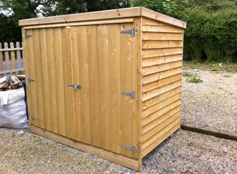 Wooden Bike Shed