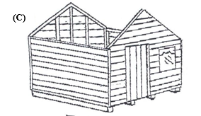 how to erect a garden shed figure c