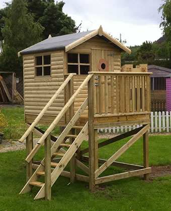 Treehouses Kids Wooden Treehouses Outdoor Playhouses Abwoodie