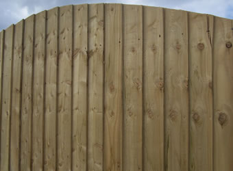 vertical arch overlapping fencing