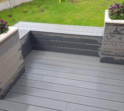 Grey Compoite Planter Seat 1