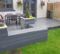 Grey Composite Planter Seat
